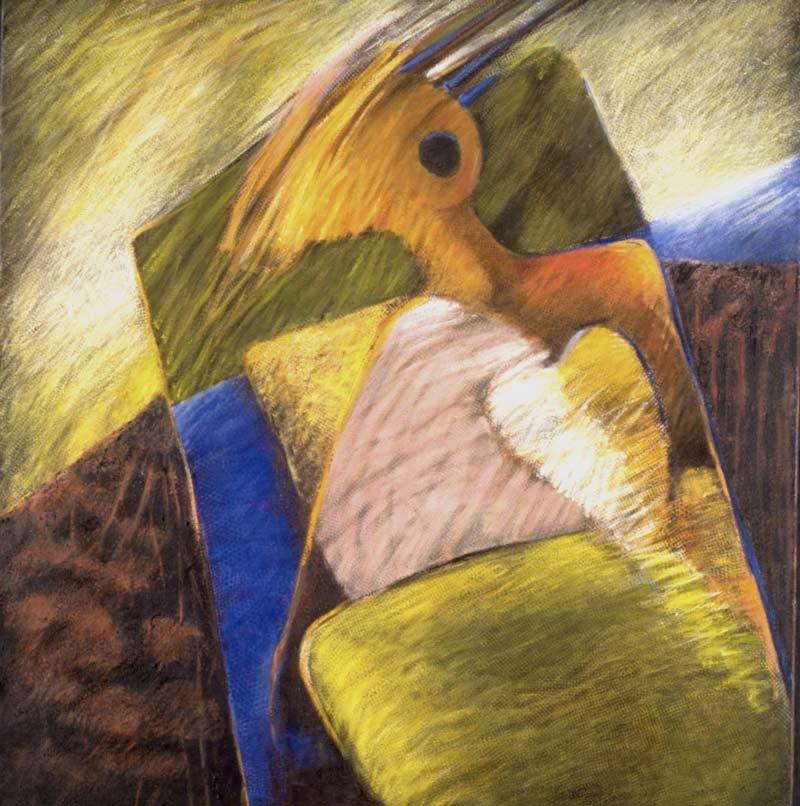 Transportada Por Una Mágica Manta, 1997, Acrílico, 44x42