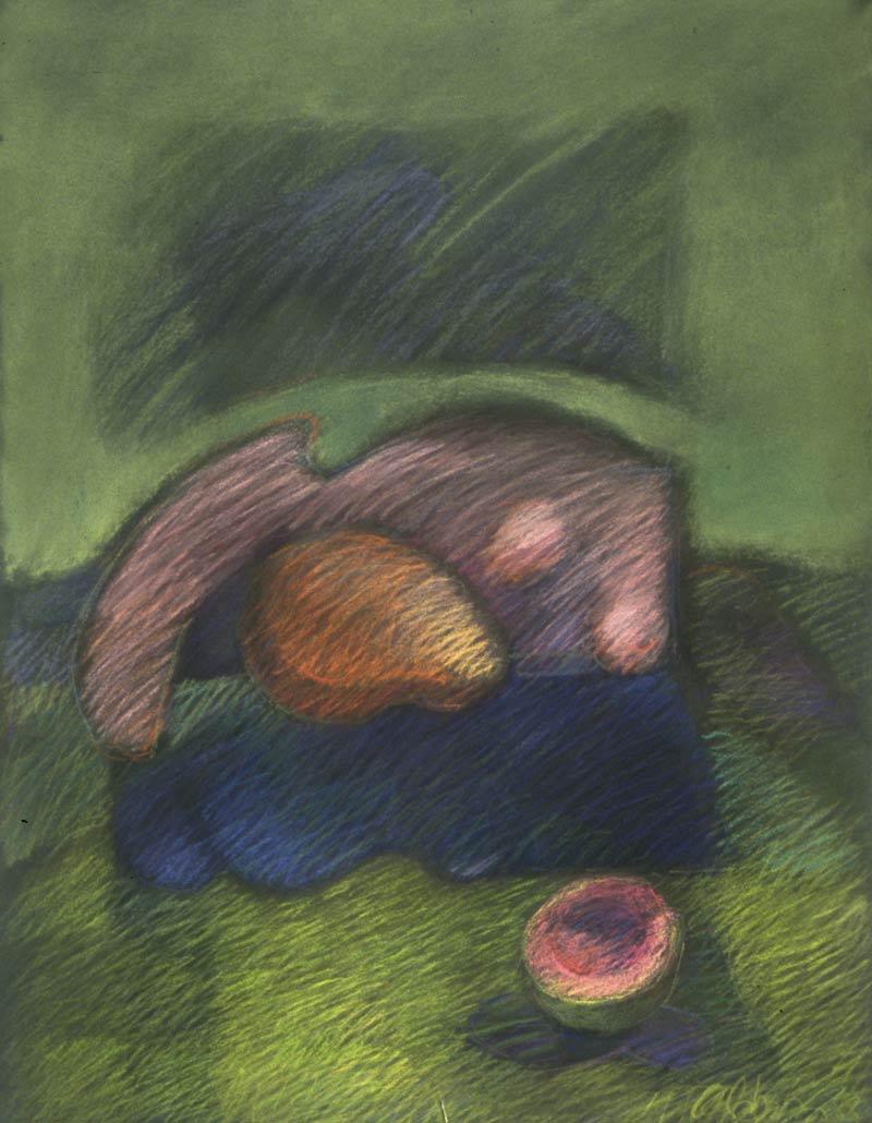 Fruition Con Ciruela, 1988, pastel