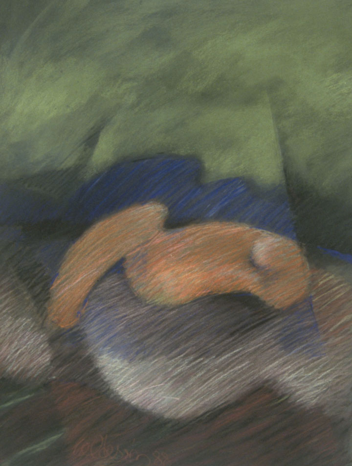 Fruition 1987, Pastel 25x19