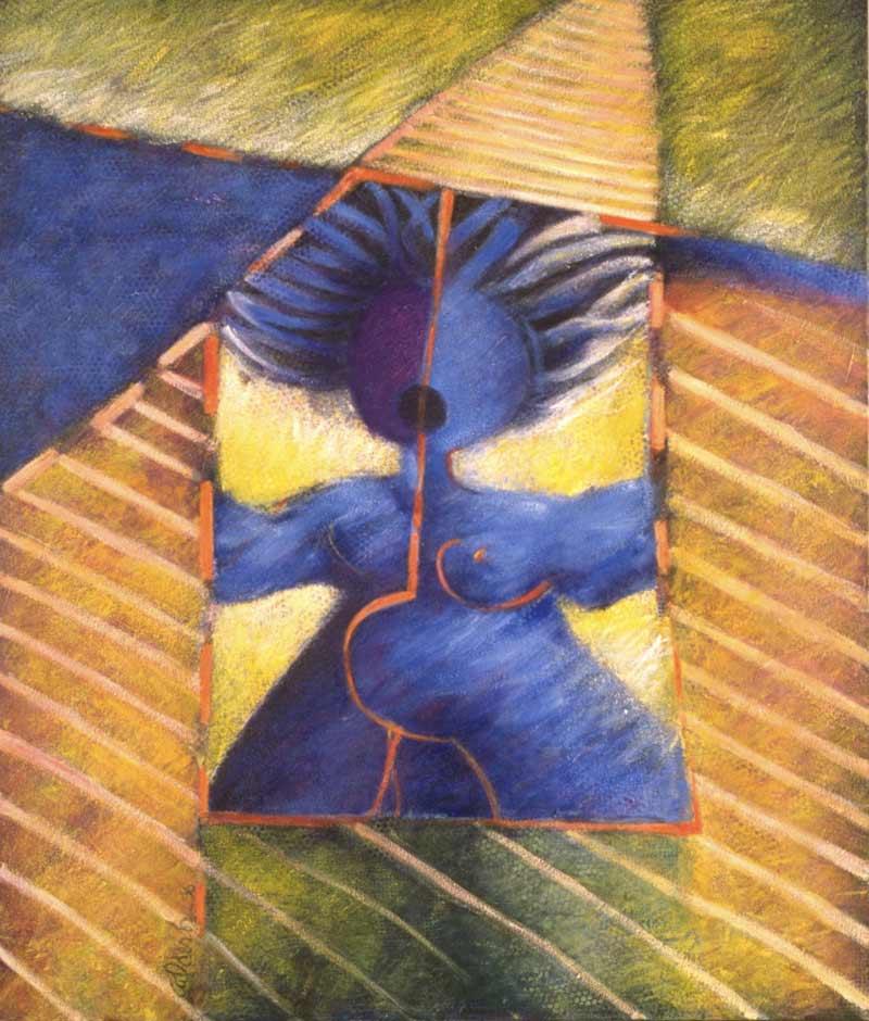 Bounded Godess, 1986, Oleo, 42x36