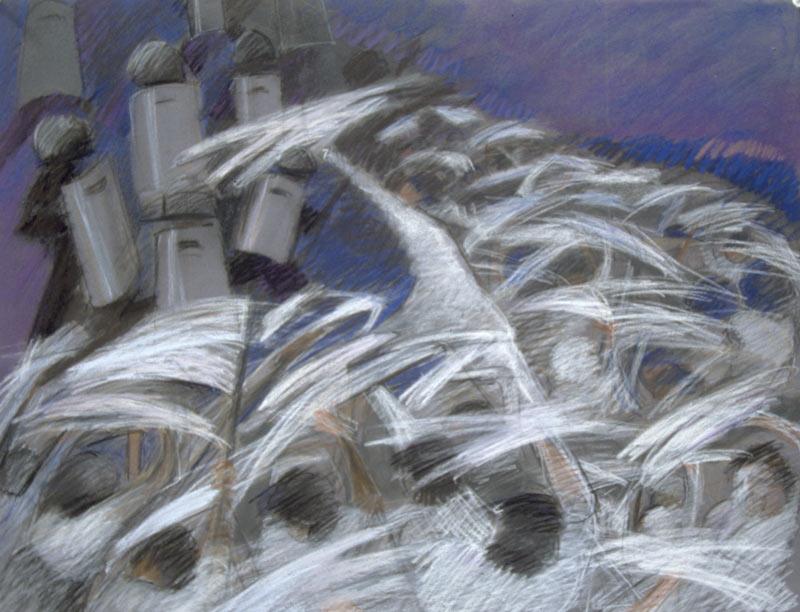 Viernes Negro, 1989, Pastel, 19x25