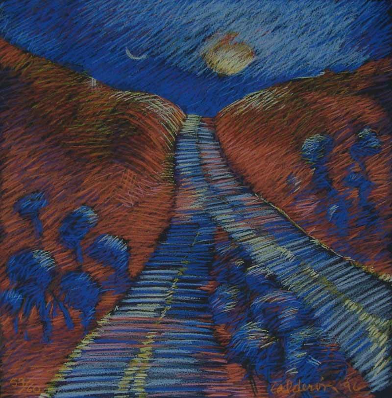 Camino Azul, 1996, serigrafia