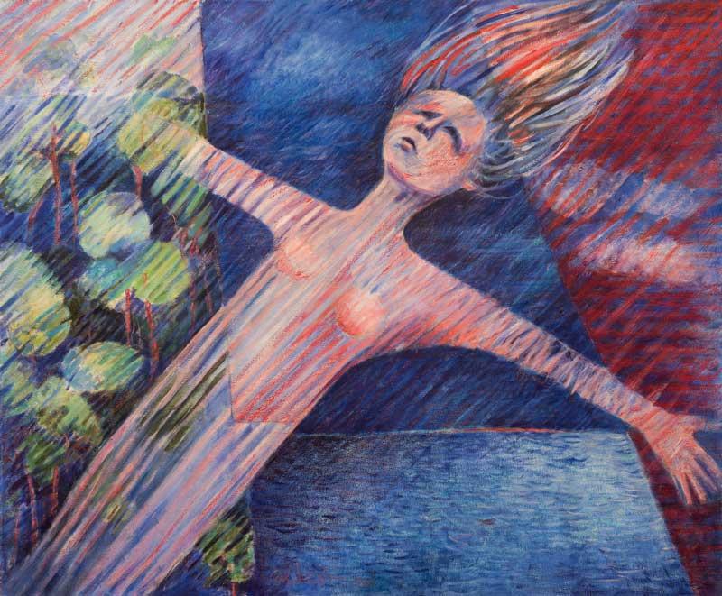 Madre Natura De Los Aires, 2002, Acrílico, 50x60