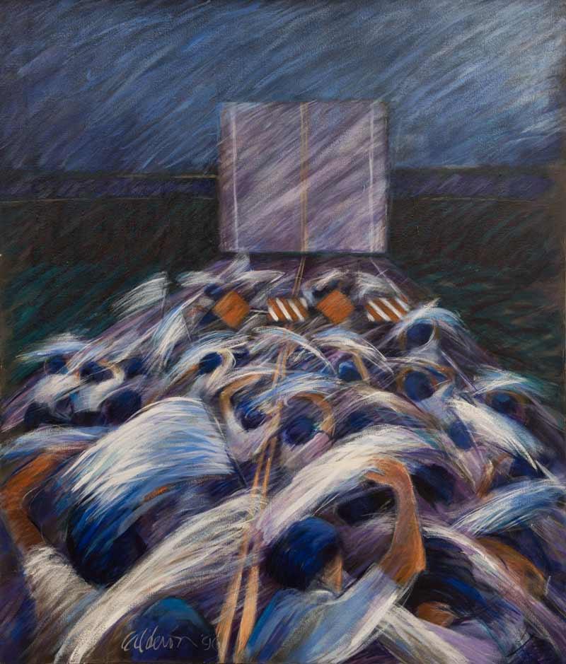 Sin Salida 1989, Acrílico, 60x70