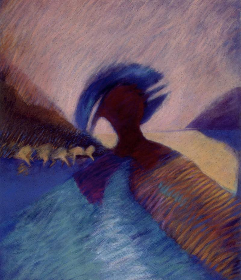Mother Nature With Hat, 1994, Acrílico, 33X36