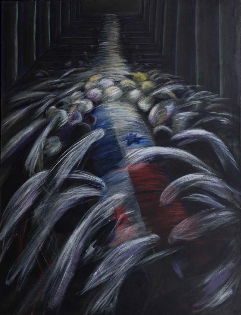 Muerte En La Catedral, 1998, Acrílico, 60x46