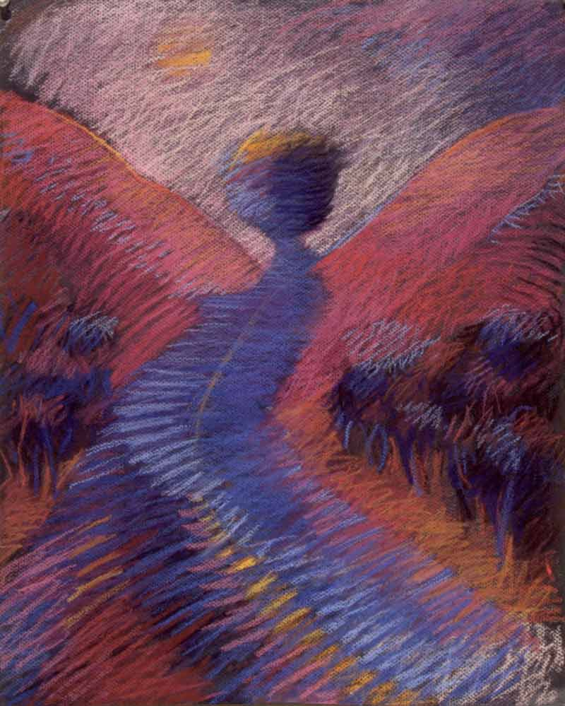 The Angel, The Way, 1995, pastel, 25x19