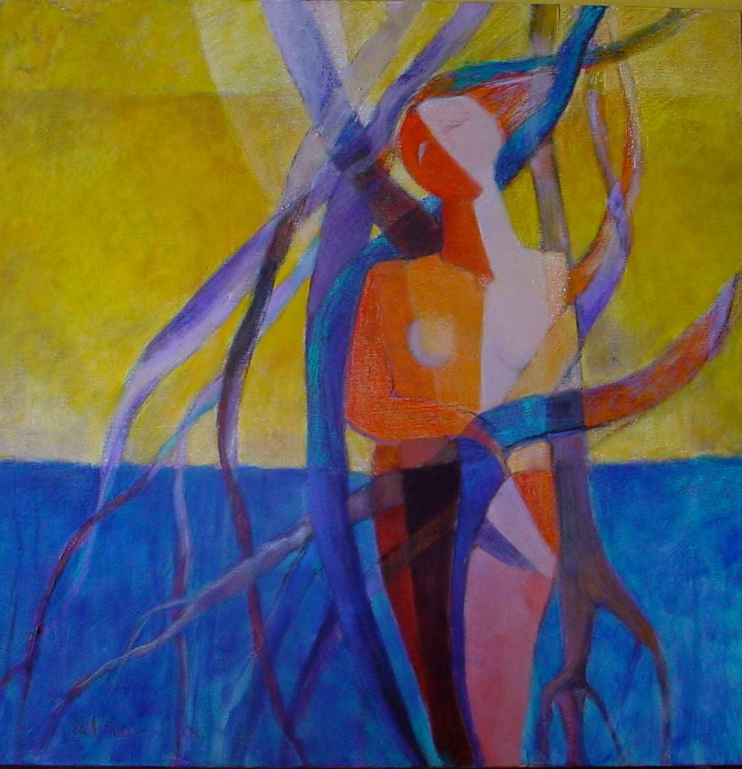 Venus Lianas y Manglares, 2006,-Óleo, 44x44