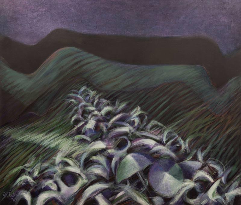 La Procesion, 1990, Acrílico, 60x70