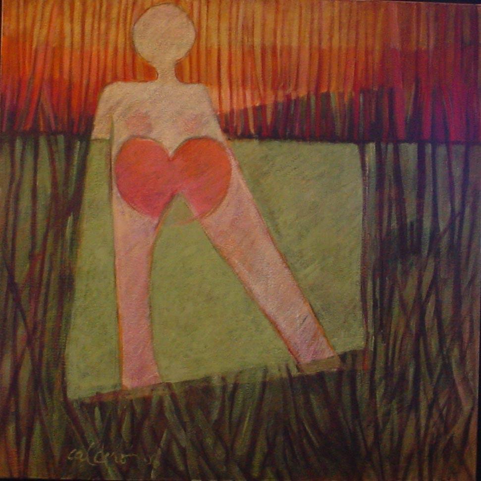 Marco de Mujer, 1998, óleo