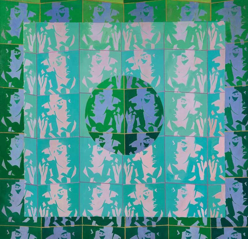 Reflejos (Serie mujer con Teléfono) 1973 40x40