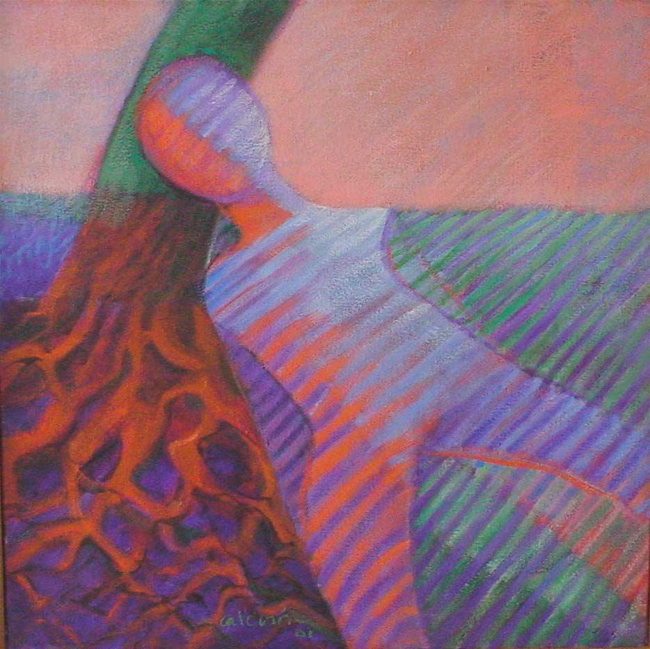 El Árbol y Yo, 2001, Óleo, 18x18