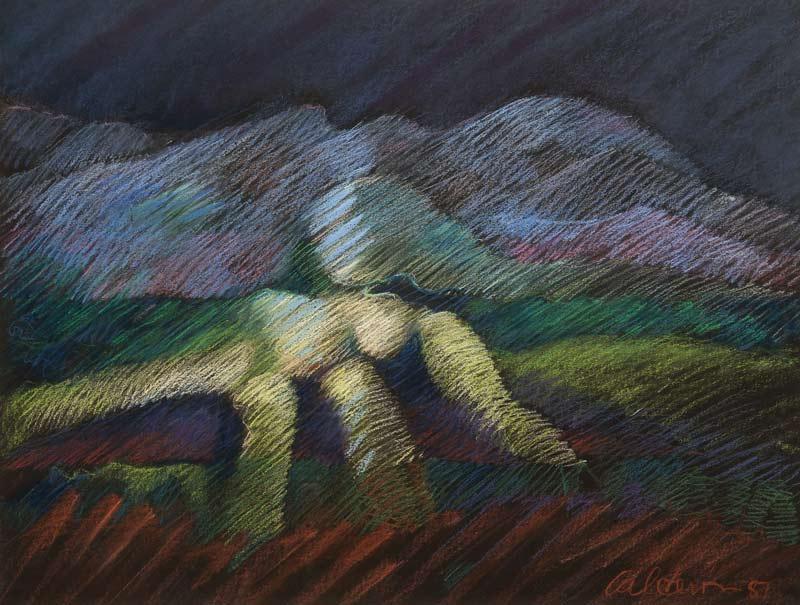 Mujer Paisaje, 1987, Pastel, 19x25